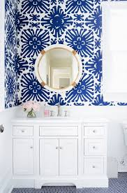 Wallpaper For Bathrooms Ideas Colors Home Tour A Preppy Connecticut House With Ladylike Details