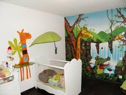 theme chambre bébé deco chambre bebe theme jungle inspirations avec dacoration thème
