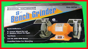 Bench Grinders Review Harbor Freight 8 In Bench Grinder Tool Review Youtube