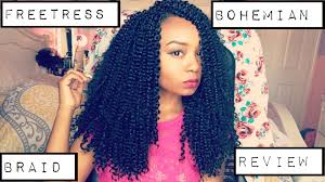 how to style crochet braids with freetress bohemia hair crochet freetress bohemian braid hair review youtube
