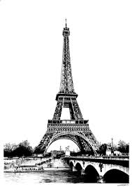 eiffel tower picture vintage line drawing the graphics fairy