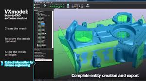 reverse engineering with creaform u0027s scan to cad software module