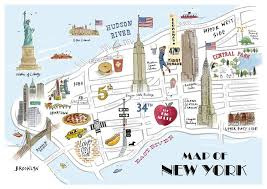 map of new your tait map of new york print tait shop