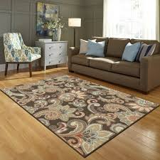 Better Homes And Gardens Rugs Better Homes And Gardens Brown Paisley Berber Printed Area Rug Ebay