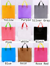 cloth gift bags 3 size personalized plastic gift bag with printing logo boutique