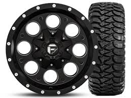 fuel wheels fuel wheels revolver black milled 16x8 wheel and mickey thompson