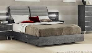 furniture elite grey birch queen platform bed in grey