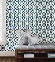 wallpops nuwallpaper navy grand trellis peel and stick wallpaper