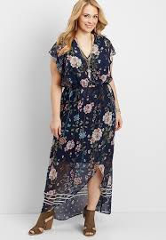 sleeve maxi dress plus size flutter sleeve maxi dress maurices