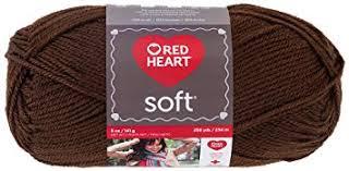 heart chocolate heart soft yarn chocolate