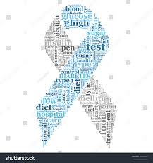 diabetes ribbon diabetes awareness ribbon word cloud stock vector 334338821