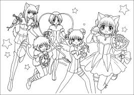 tokyo mew mew coloring pages 100 images pudding from mew mew