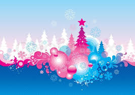 Ice Blue Christmas Tree Decorations by Christmas Backgrounds Snowflake Vector Illustration Holiday