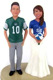 football cake toppers football college and nlf wedding cake toppers