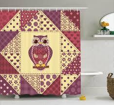 home decor owls owls home decor shower curtain set tree with