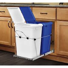 kitchen trash can ideas wheeled trash can in kitchen home ideas collection useful