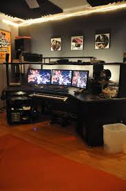 Gaming Desk Ideas by 37 Best Workspace Multiple Monitor Images On Pinterest Office