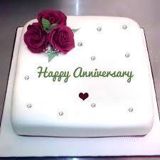 write name on happy anniversary cake awesomenamepics