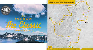 Oregon Elevation Map by Cycle Oregon Unveils Routes For 30th Anniversary Rides