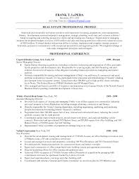 real estate resume with no ba resume sample