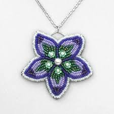 beading flower necklace images Beading instructions gt bead embroidered flower pendant jpg