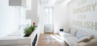 minimalist apartment with all white interior in rome by brain