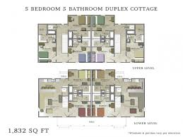 Duplex Floor Plans Single Story by 40 5 Bedroom Duplex House Plans Contemporary Style House Plan 5
