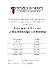 Types Of Ventilators Final Building Service Assignment