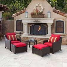 home depot patio heater black friday rst brands deco 5 piece patio chat set with slate grey cushions op