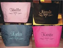 bridesmaids bags 7 wedding tote bag personalized bridesmaid scroll bridal shower