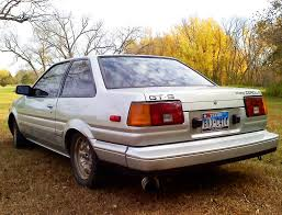 85 toyota corolla 1985 toyota corolla gt s coupe rear view cars today