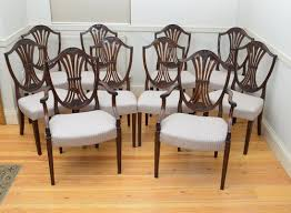 atlas chairs and tables excellent set of 10 hepplewhite style chairs antiques atlas