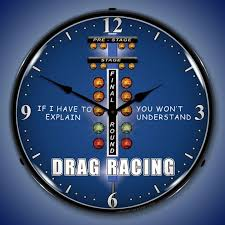 themed wall clock drag racing clocks lighted wall clocks garage clocks