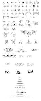 free vintage vector pack 85 vector decorative ornaments included