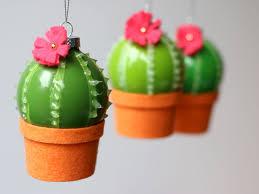 diy cactus bauble ornaments mini cactus tree