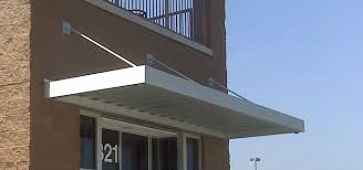 Aluminum Awning Aluminum Awnings With Overhead Support Raleigh Awning Company