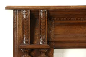 sold victorian carved oak antique fireplace mantel 1880