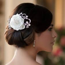 hair flower wedding bridal hair flowers glitzy secrets