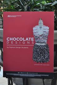 design students show good taste with chocolate covered fashions at