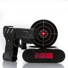 gadget bureau gadget cible laser tir pistolet alarme horloge électronique