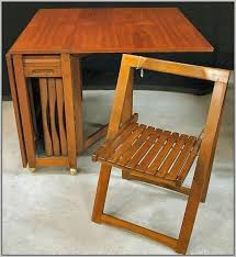 drop leaf table with folding chairs stored inside drop leaf table and folding chairs furniture favourites