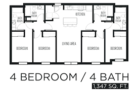 4 bedroom floor plans open floor plan 4 bedroom house simple 4 bedroom floor plans house