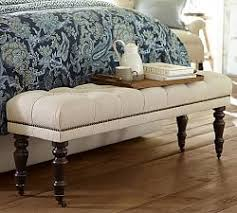 Benches For Foot Of Bed Bedroom Benches U0026 End Of Bed Seating Pottery Barn