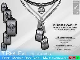 engravable dog tags for men second marketplace re rebel morbid dog tags engravable