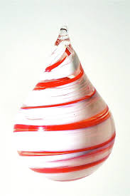 teardrop ornaments chad balster glass