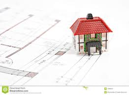 House Project by House Technical Draw Stock Photo Image 4332310