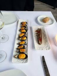 cuisine au safran moules au safran et couteau picture of restaurant la calendula