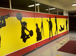 Gym Wall Murals Mural For The Gym At School Do On A Removable Board Variation