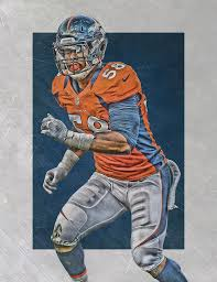 von miller denver broncos art 2 painting by joe hamilton