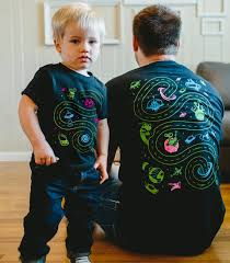 father son matching shirts space shirts daddy and son dad
